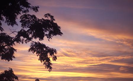 hdri: Sunset  sunrise with clouds, light rays