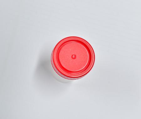 uric: Transparent plastic cans for urine