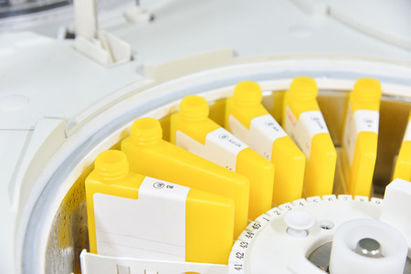 automate: laboratory equipment automate chemistry. Stock Photo