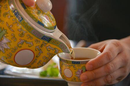 tea break: The Time of Tea Break. Stock Photo