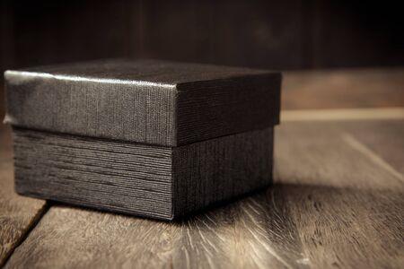 black wood texture: black box on wood texture.