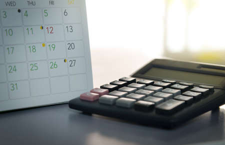 flicking: calendar in planning concept.