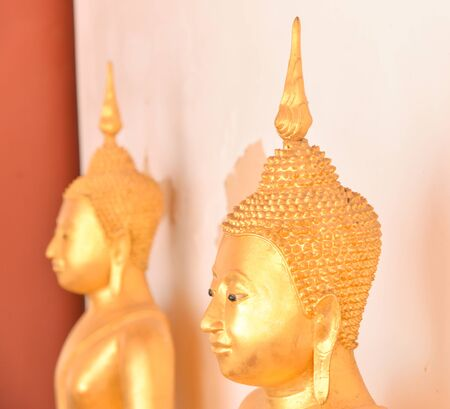 Buddha Statue.The Buddhist Lent Day: The First Day of Rainy Season Retreat Stock Photo