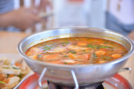 Thai Tom Yam soup sae food.
