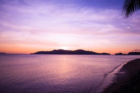 reveille: pink sunset Stock Photo