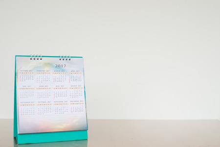 calendar page 2017 in white tone