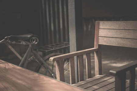 chairs: Wood Chairs Stock Photo