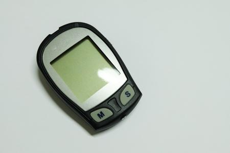 diabetes meter kit: Glucose meter Stock Photo