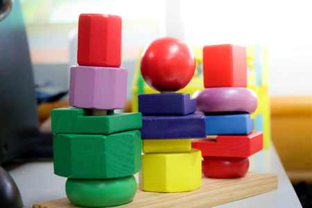 children educational toy in physical therapy concept.