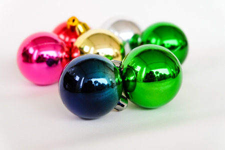 frippery: christmas balls on white background.