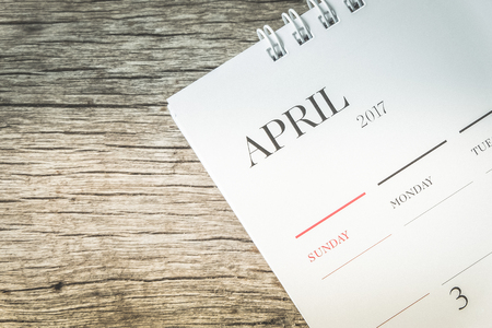 APRIL 2017 CALENDAR IN DARK TONE
