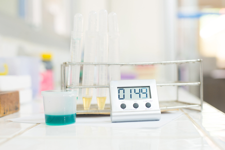 urine analysis: urine analysis in laboratory in white tone.