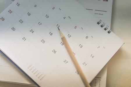 calendar page in dark tone