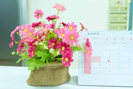 14 february: 14 February Valentine day in pink tone.