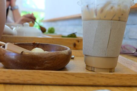 Food and drink in coffee shop. Stock Photo