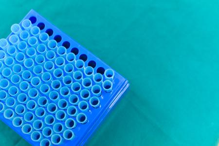 pcr: Micro pipette tip laboratory equipment.