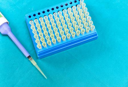 Micro pipette tip laboratory equipment.