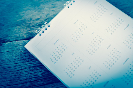 turning the page: blurred calendar