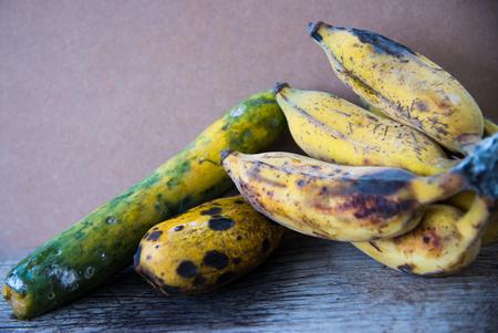 expired: still life rotten fruit Stock Photo