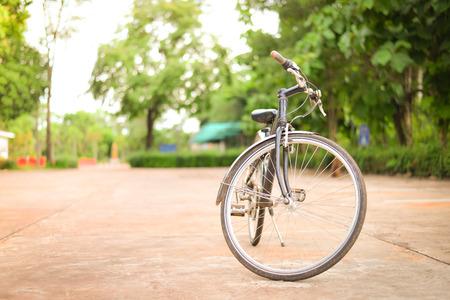 Blur bicycle in park.