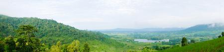 Landscape panorama seen. Stock Photo