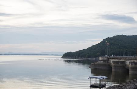 Ubonrat dam in thailand.