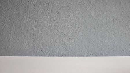 Free space white table on grey background.