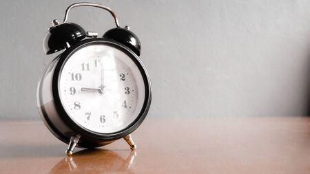 Close up Vintage clock in pastel tone.