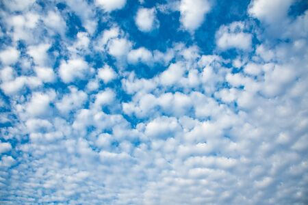 White cloud on blue sky background. Stock Photo