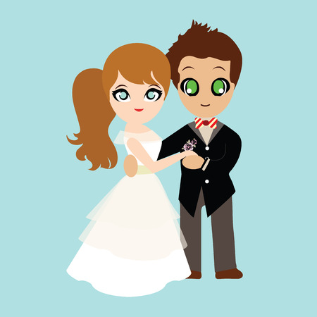 sweet couple: Illustration of lovely sweet couple wedding