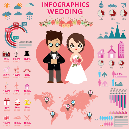wedding reception decoration: Wedding infographics