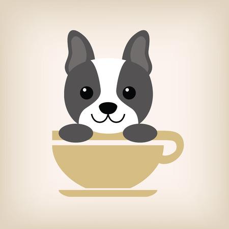 vecter: Dog logo coffee shop vecter.
