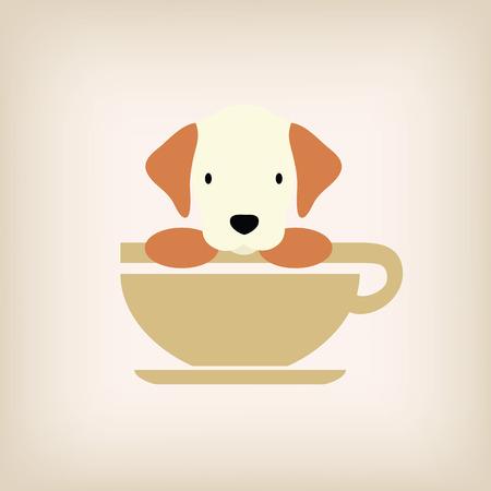 logo: Dog logo coffee vector.
