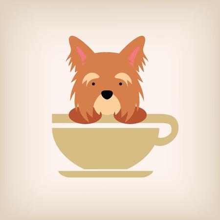 doggies: Dog logo coffee vector.