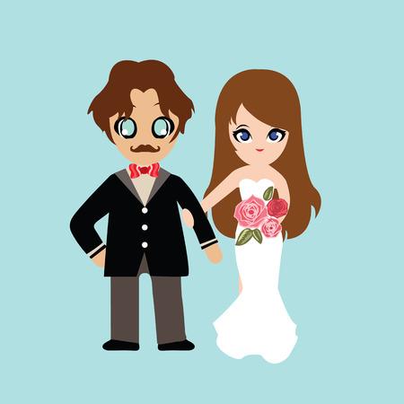 sweet couple: Illustration of lovely sweet couple wedding. Illustration
