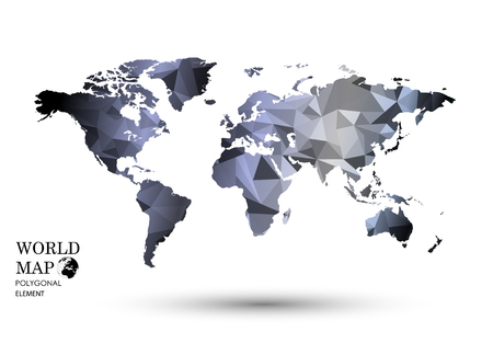 simplified: Polygonal World Map