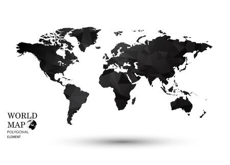 simplified: Polygonal World Map  Illustration