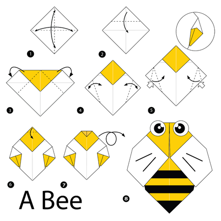 Bee Origami Royalty Free Cliparts Vectors And Stock Illustration