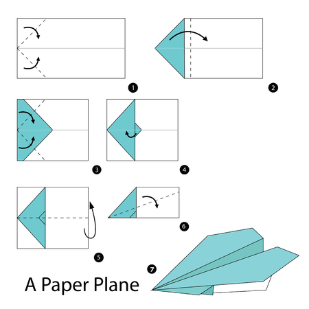 stap voor stap instructies hoe origami A Plane te maken.