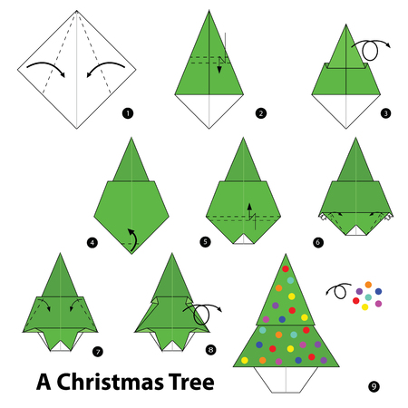 Step By Step Instructions How To Make Origami A Christmas Tree