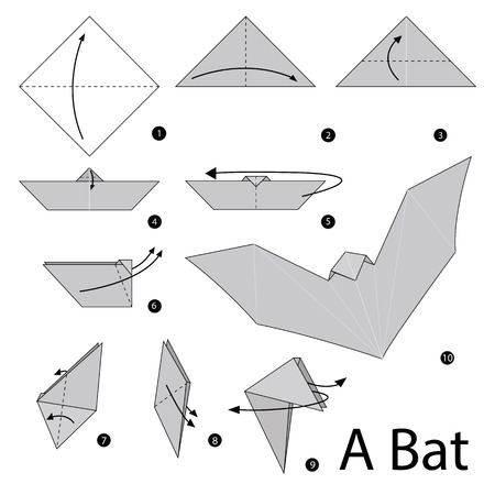 how to: step by step instructions how to make origami A Bat.