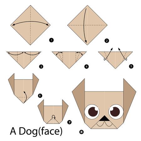 instrucciones: paso a paso las instrucciones de c�mo hacer que el perro de origami.