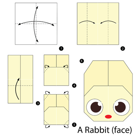 instructions: step by step instructions how to make origami A Rabbit.