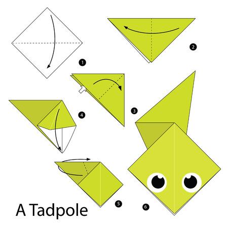 tadpole: Step by step instructions how to make origami A Tadpole.