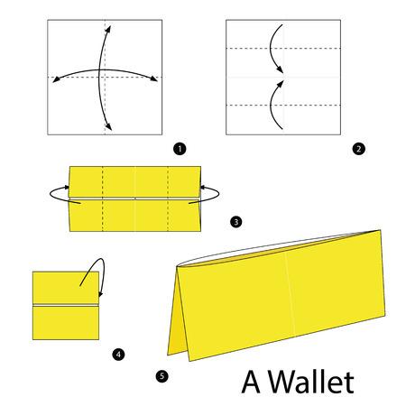 instrucciones: Instrucciones paso a paso c�mo hacer origami de una cartera.