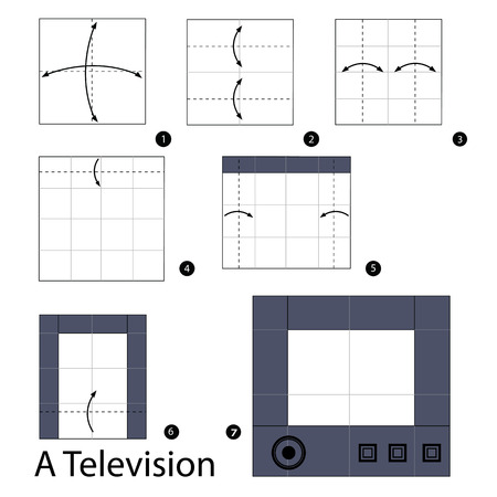 instructions: Step by step instructions how to make origami A television.