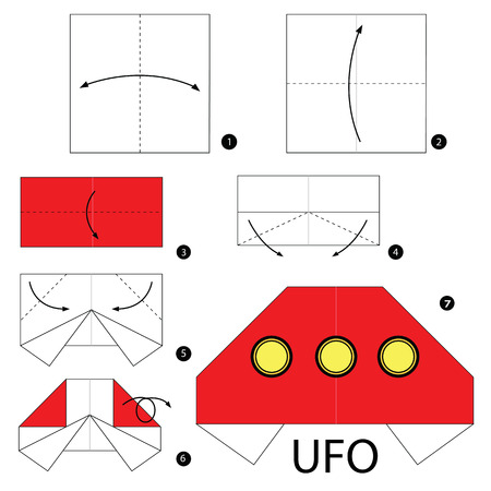instructions: Step by step instructions how to make origami A UFO.