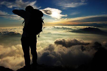 nebbia: Fotografo in montagna