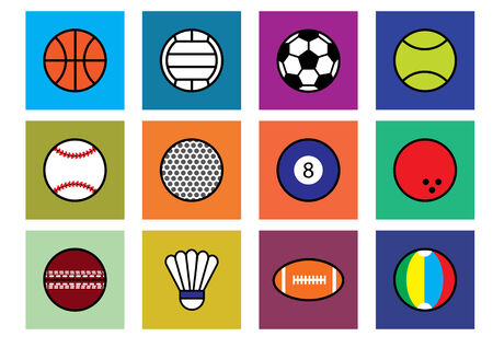 olimpic: sport object on color background