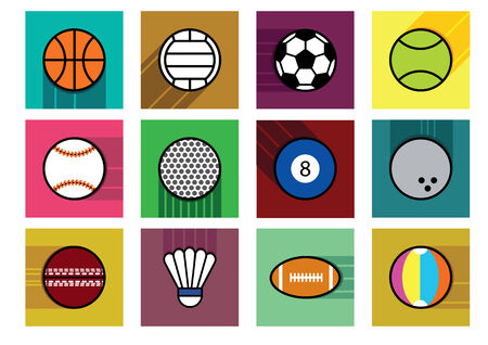 olimpic: sport object  with shadow on color background. Illustration